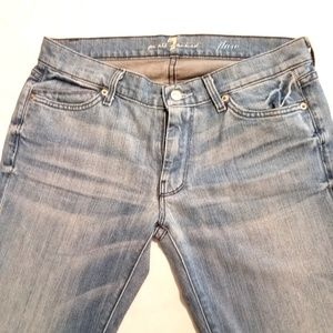 7 For All Mankind Faded Rhinestone Pockets Jeans